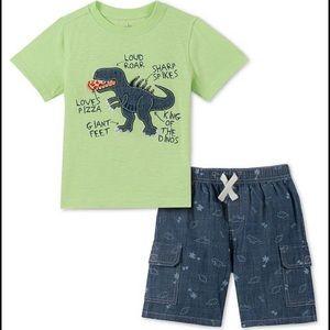 NEW Kids Headquarters Dinosaur T-Shirt & Shorts